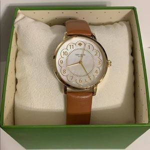 Kate Spade Gold Watch with Brown Leather Band